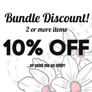 10% off on all bundles of 2 or more items!